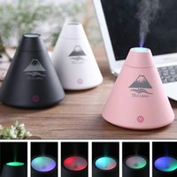 Wholesale Wholesale Aromatherapy Diffusers - Volcano Humidifier Aromatherapy Diffusers Aroma Diffuser Atomizer Mist Maker Fogger Essential Oil Diffuser Air Humidifier USB Free Shipping