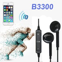 Wholesale Two Earphone One - B3300 Original In-Ear Stereo Bass Wireless Bluetooth One-driven-two Headset Portable Earphones with Mic Noise Reduction high quality EAR233