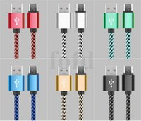Wholesale Blackberry Data Transfer - 25cm Sturdy Nylon Braided USB Cable Data Sync Charger Cord Wire fast charging&data transfer speed for Samsung HTC and iPhone 100PCS