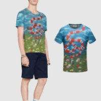 Wholesale Dry Grass - 2017 Italy suprem t shirts tee men grass snake printing creative High-end clothing Men's T-shirt 3XL