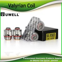 Wholesale genuine dual coils resale online - Authentic Uwell VALYRIAN Coil Head ohm W W Dual Legged Quad Replacement Coils For ml VALYRIAN Tank Atomizer Genuine
