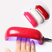 Wholesale Nail Polish Colors Uv - Mini USB 9W 3 LED UV Nail Dryer Curing Lamp Machine Gel Nail Polish Powerful UV Lamp Polish Light Nails Facial Tools Fast Dry Multi Colors