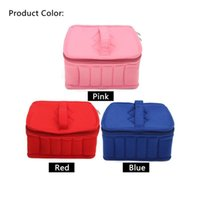 Wholesale Bag For Nail Polish - Newest Essential Oil Carrying Case For 5ML10ML 15ML Nail Polish Makeup Cosmetic Bag Storage Traveling Sturdy Double Zipper 30Bottles