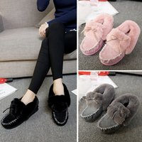 Wholesale Ladies Footwear Boots - Plush lady warm boots suede outdoor winter feather casual shoes durable female snow boots footwear