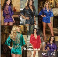 Wholesale Women S Lingerie For Men - Plus Size Sexy Satin Lace Sleepwear Erotic Lingerie Dress,Sexy Lingerie Hot,Lenceria Pajamas,Sexy Costumes For women S~XL