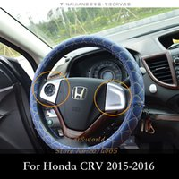 Wholesale Honda Crv Chrome - For Honda CRV 2012 to 2016 Steering Wheel Cover Trim Low-equipped models Auto Interior ABS Chrome Decoration Car-styling Accessories