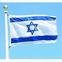 Wholesale Wholesale Star David - 87cm x 148cm ISRAEL National FLAG Jewish Star Magen David Israeli Country flag, 3*5 feet for Festival Banner Home Decoration Flag