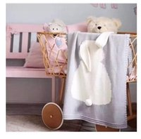 Wholesale Wholesalers For Baby Baths - Ins Baby Blanket Rabbit Crochet Cute Cartoon Knitted For Bed Sofa Cobertores Mantas BedSpread Bath Towels Play Mat