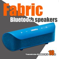 Wholesale Work Speakers - Various colors Bluetooth Speaker AIBIMY M658BT Mini Speakers Portables Fabric Bag Shape 8-10h Work time Wireless Speakers Subwoofers