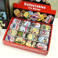 Wholesale Vintage Tool Case - Collectable Tin Box Vintage Mini Jewelry Pill Candy Organizer Favor Storage Boxes With Lids Rectangle Case Building Container New 1 6gf D
