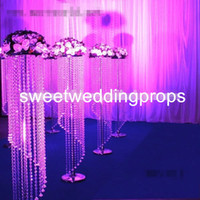 Wholesale crystal wedding trees centerpieces for sale - Group buy artificial tree crystal centerpieces tree for wedding table