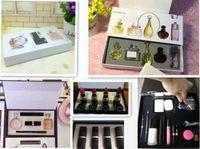 Wholesale Makeup Cc - Makeup 9 pcs sets pack Set Cosmetic Set lipstick Makeup medium Mascara Eyeliner Lipstick Lip Gloss blush BB cream puff Cosmetic Set with CC