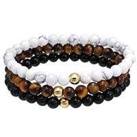 ingrosso pietra dell'occhio nero-Tiger Eye Stone BLACK ONYX Pietra, pietra naturale perline Bracciale Bracciali a braccialetti