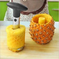 Wholesale Silver Pineapples - Stainless Steel Fruit Pineapple Corer Slicers Peeler Parer Cutter Kitchen Easy Tools Silver Color 18*9*9cm DHL