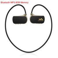 Wholesale Headphone Real - Wholesale- Sport Wireless Bluetooth MP3 Player Real 8GB for Son Walkman NWZ-W273 WS615 8G Running Reproductor mp3 Music Players Headphones