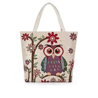 Wholesale women shoulder bags Europe American Style women handbags owl embroidery national style casual cute canvas bags