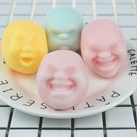 Wholesale Rubber Face Doll - Hot Sale Human Face Emotion Vent Ball Toy Resin Relax Doll Adult Stress Relieve Novelty Toy Anti-stress Ball Toy Gift