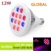 12W organic led lighting - LED Grow light Bulb E27 W V Miracle Grow Plant Light V V for Greenhouse Organic blooming growing plants