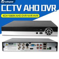 Wholesale Dvr Ip Channel - 4Ch Full HD 1080N AHD-NH Real time 4 Channel CCTV 720P AHD DVR AHD-M Hybrid DVR NVR 4in1 Video Recorder For AHD&IP&Analog Camera