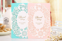 Wholesale Cutting Sticker Decor - wedding invitations laser cut wedding invitations wedding invitation party favors New Blank Inside With Envelope sticker Party Decor