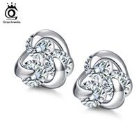 Wholesale Earring Heart Small - 100% Genuine 925 Sterling Silver Earrings for Women Hot Sale 8mm CZ Small Cute Crystal Jewelry Stud Earrings SE10