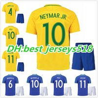 867816a4d80 best quality 2016 Brazil soccer jersey kits NEYMAR JR home away T.SILVA  OSCAR D.COSTA DAVID LUIZ Brazil football shirt soccer kit jersey