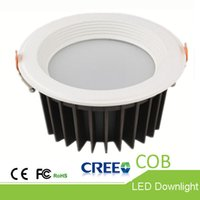 Wholesale Bathroom Projects - High-end products COB Downlight 10W 15W 20W 25W 30W Hall Ceiling LED downlight showroom LED ceiling lamp warranty for three years Project