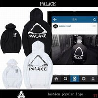 Wholesale 2017 Palace hoodies man Pullover Stripe Print Outerwear Coats Mens Palace Skateboards Hoodie yongth HIP HOP Triangle Sweat Palace Sweatshirt