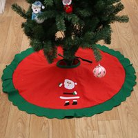 Wholesale Santa Skirts - 2017 90cm Santa Claus Tree Skirt Christmas Tree Skirt Christmas Tree Decoration Christmas Supplies Xmas Decoration