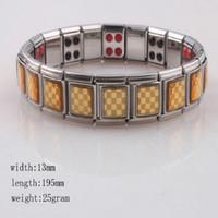 Wholesale Tourmaline Power Bracelet - Women's Jewelry Energy Gold Plated Power Bracelet banlace Health Tourmaline Bracelet Stainless Steel Bracelet for Women
