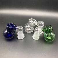 ashcatcher bowl bubbler großhandel-Mini Glas Esche Catcher Schüssel männlich weiblich 10mm 14mm 18mm Aschfänger mit Bubbler und Kalebasse Ashcatcher Schalen für Glasbongs Dab Rigs