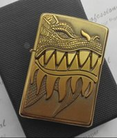 Wholesale Dragon Lighters - Gold and silver metal windproof kerosene lighter Surprise the dragon China's leading