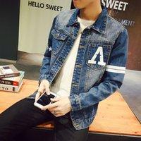 Wholesale Men S Jeans Jackets - Wholesale- S-5XL Denim Jacket Men Jeans Jacket Men JC33 Bomber Jacket Men Veste Homme Chaquetas Hombre 2016