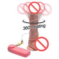 Wholesale Female Suction Vibrator - FREE SHIPPING!!2016 Newest Silicone Realistic Dildo 7'' Big Dildo Vibrator Strapon Penis Suction Cup Double Vibrators Sex Toys for