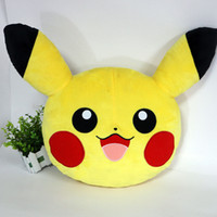 Wholesale Toy Round Animal Pillow - Poke Plush Pillow 14inch Pikachu Cushion Soft Stuffed Animals Toys Pocket Monster Decorative Pillow Home Sofa Decoration