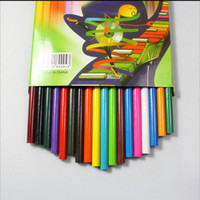 natürliche bücher großhandel-PrettyBaby Natürliche Holz Farbe Bleistift Set Zeichnung Bücher Malerei Bleistift für Kinder Geschenk Buntstifte für Skizze 18 Farben