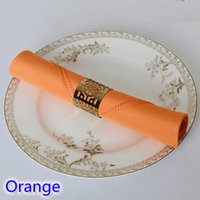 Wholesale Orange Table Napkins - Orange colour Table napkin plain polyester napkin for wedding hotel restaurant party table decoration wrinkle stain resistant