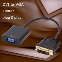 Full HD 1080P DVI 24 + 1 macho para VGA fêmea HDTV Conversor de linha Conector de monitor Cabo para PC Display Card