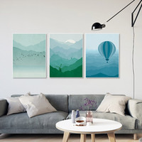 Imágenes Del Faro Baratos-5 Unidades Moderno Paisaje Abstracto Lienzo A4 Cartel de la Impresión Del Arte Lighthouse Wall Pictures Living Room Home Decor Paintings No Frame