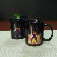 Wholesale personality pieces - Dragon Ball Z Mug SON Goku Mug One Piece Hot Color Changing Cups Heat Reactive Mugs Super Saiyan Cups Coffee Mugs Taza Goku cups HHA1139