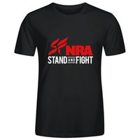 Wholesale Images Shirts For Boys - Personalized Design NRA Stand and Fight Image Print T Shirts Tee for Mens Boys Cotton Round Collar Funny Hip hop Cool