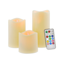 Wholesale led color timer resale online - New Design Color Changing Led Candle Safe For Children Flameless Wax Candles With Timer Remote Control Home Decoration