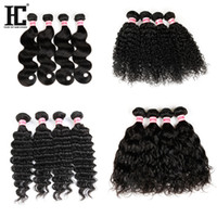 Wholesale Thick Brazilian Hair Extensions - Brazilian Peruvian Human Hair Extensions 100% Unprocessed Virgin Remy Hair 100g Bundles Thick Hair Wholesales Price HC Products