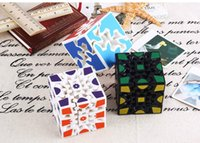 Wholesale 3d Stickers Puzzles - 3D Cube Puzzle Magic Cube 3 x 3 x 3 Gears Rotate Puzzle Sticker Adults Child's Educational Toy Cube XT