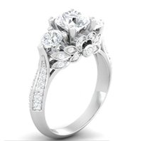 joyería gia al por mayor-Certificado GIA de los EE. UU. Diamante SONA 100% Anillo de plata maciza Anillos de compromiso 2ct para mujer Anillo de plata de ley 925