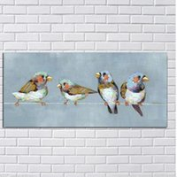 Wholesale Art Oil Canvas Bird - Abstract Birds,Pure Hand Painted Modern Wall Decor Abstract Animal Pop Art Oil Painting On High Quality Canvas.Multi customized size a-mei