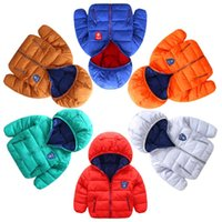 Wholesale yellow duck clothes for sale - Group buy winter boys girls jacket snow treasure cartoon coat cotton padded clothes children s coat Kid light down sport jacket
