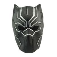 novidade óculos preto venda por atacado-NOVA Máscara de Pantera Negra Capitão América Civil War Costume Máscara Cosplay Capacete