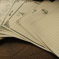 Wholesale Vintage Letter Paper Envelopes - 10 Sets   80pcs Stationery Classical Vintage Pattern Design Kraft Letter Paper Stationery Writing Paper Note Paper For Letters