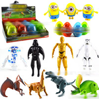 Wholesale Star Wars Box Sets - Jurassic dinosaurs Dinosaur Eggs Star wars Action Figure Growing Pet Creative Toys Gift Box 12pcs set Dropship EMS shipping E1934